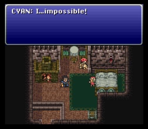 Traurigkeit: Es gibt nichts Schlimmeres, als sein eigenes Kind zu überleben. (Final Fantasy VI) SNES-Screenshot, aufgezeichnet via Snes9x-Emulator