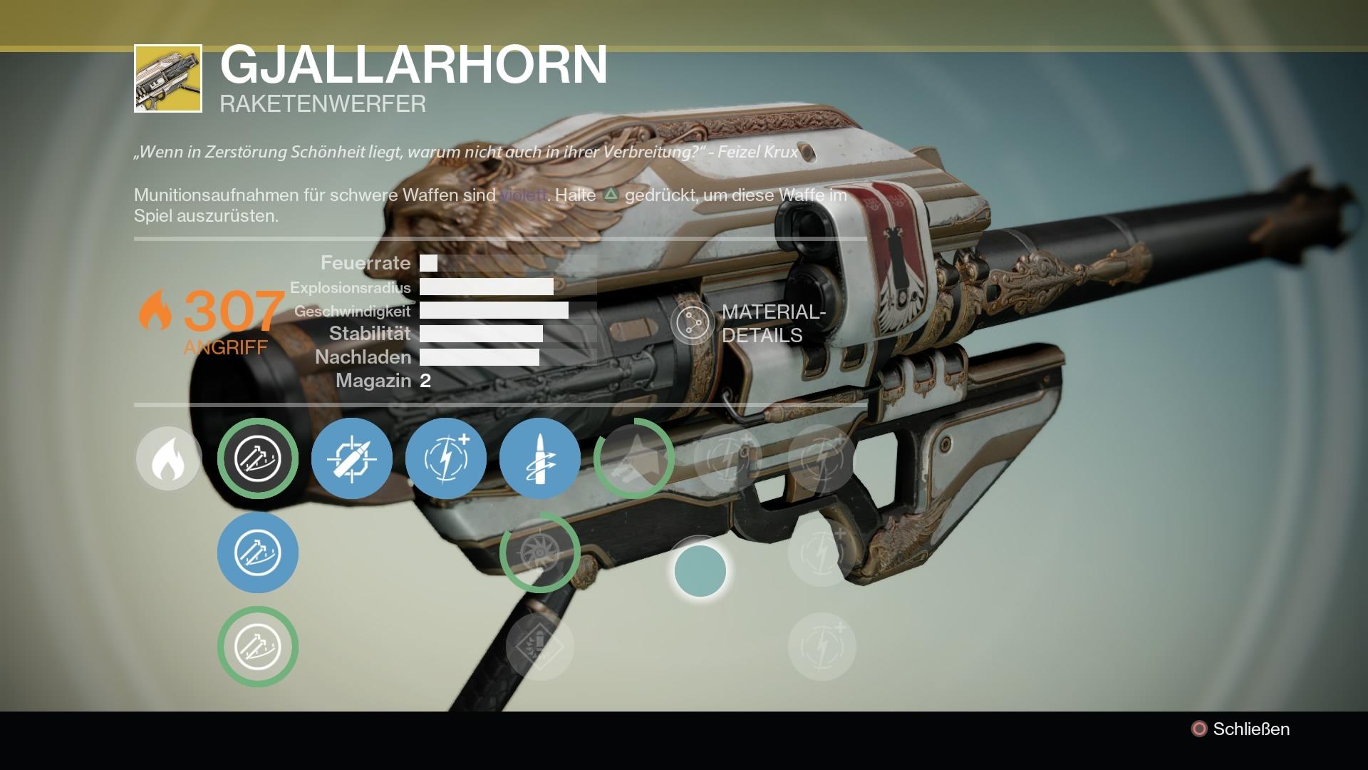 Ich muss es haben! Argh! Das Gjallarhorn ist die wohl beste Waffe in Destiny.
