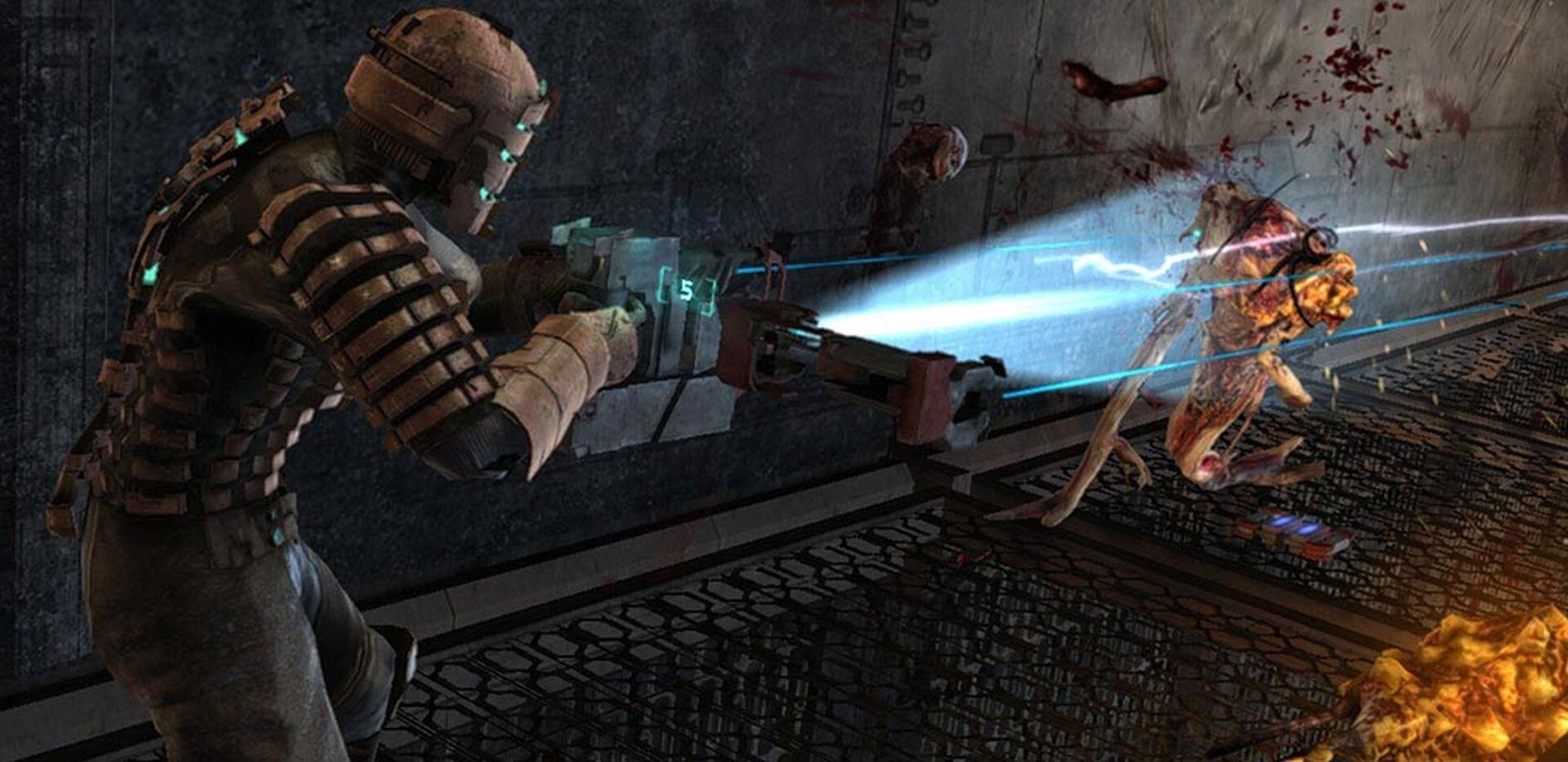 Fachgerechtes Feind-Filetieren in Dead Space.